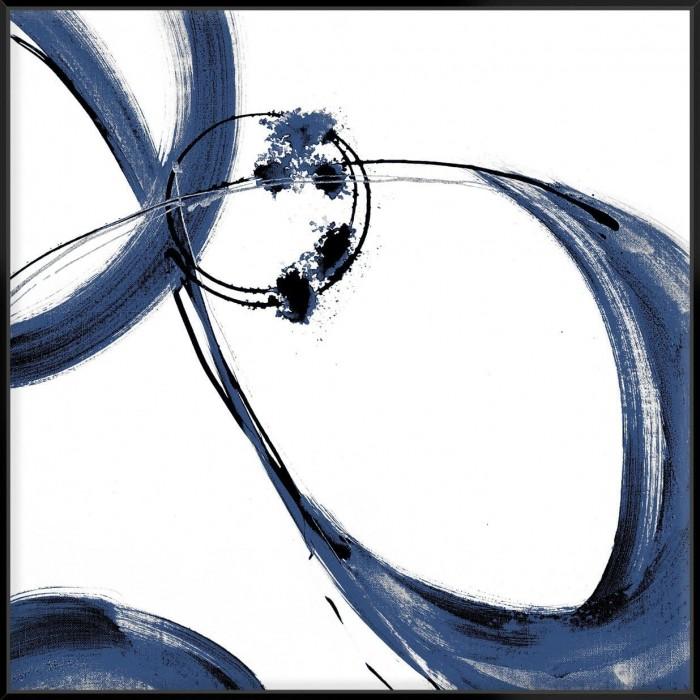 Blue Calligraphy II - Canvas