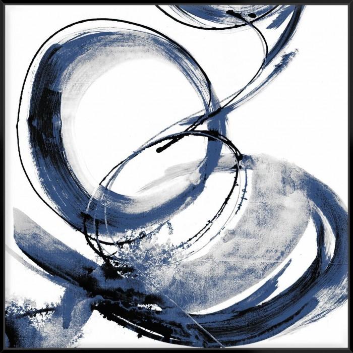 Blue Calligraphy III - Canvas