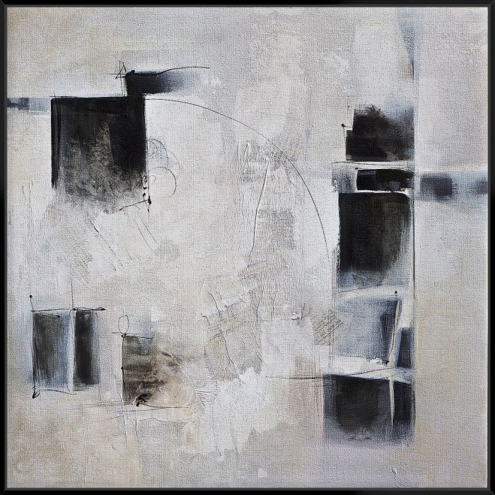 Black & White And In Between - Canvas