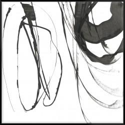 Black Streaks I - Canvas