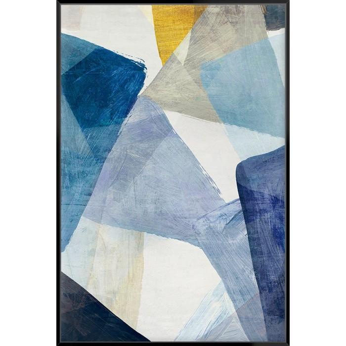 Blue Geometric I - Canvas