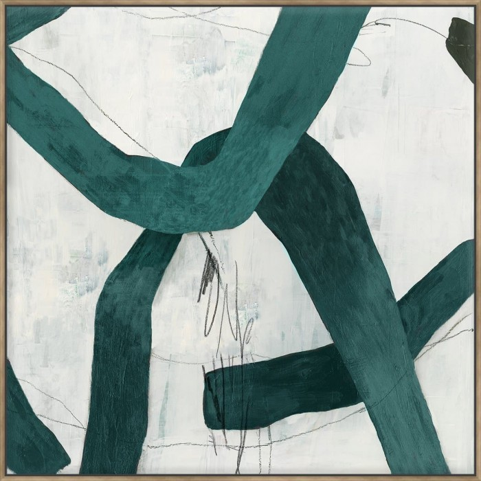 Green Bow II - Canvas