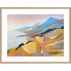 Monterey To The Sea 124x99cm / Large Oak, with a visible woodgrain