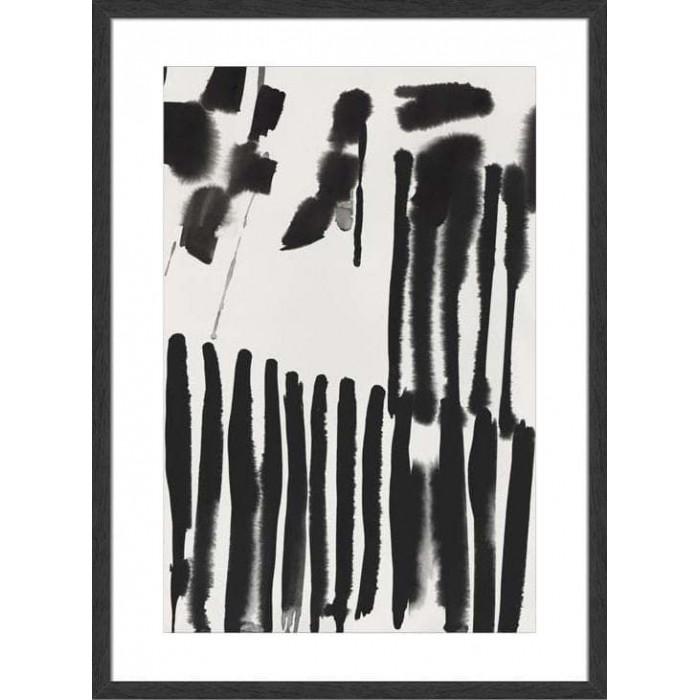 Piano Rhythm II 114x84cm / Black, medium with woodgrain
