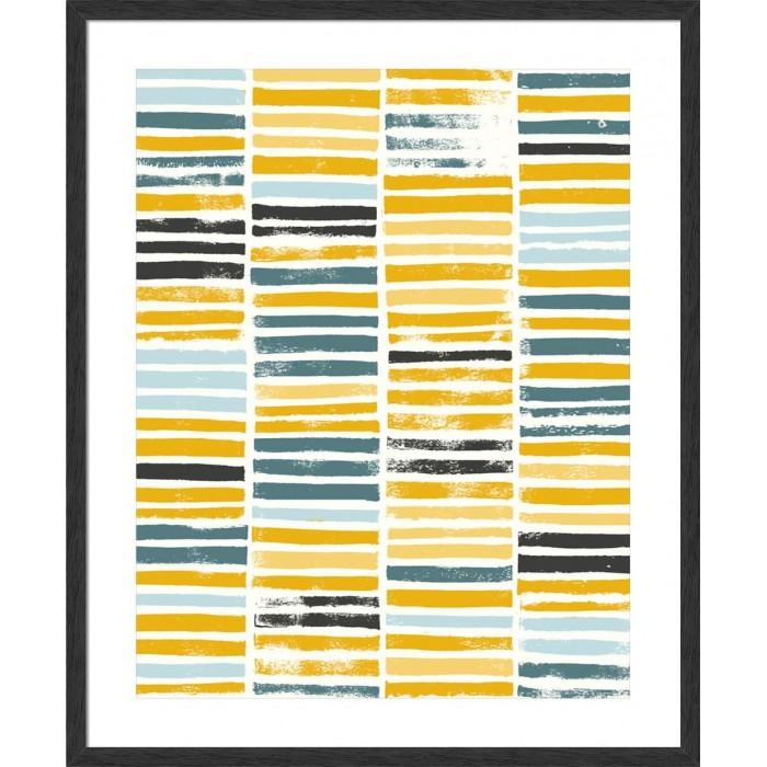 Saffron Block Print I