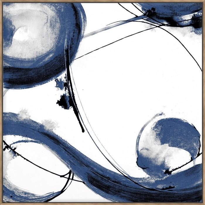 Blue Calligraphy I - Canvas