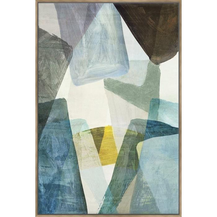 Blue Geometric II - Canvas