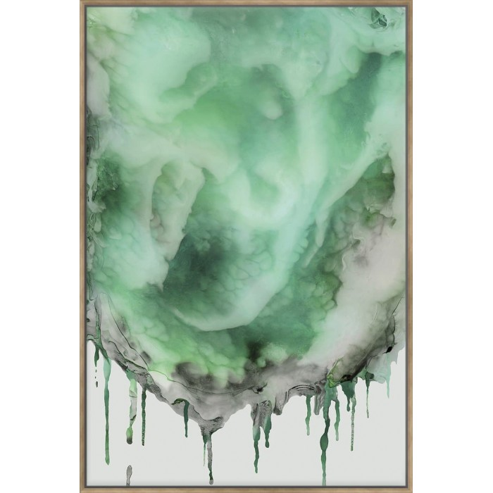 Dripping In Green - Canvas