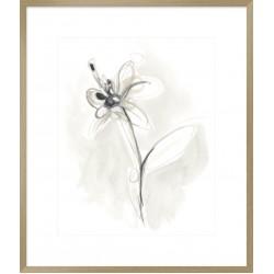 Neutral Floral Gesture IX 74x64cm