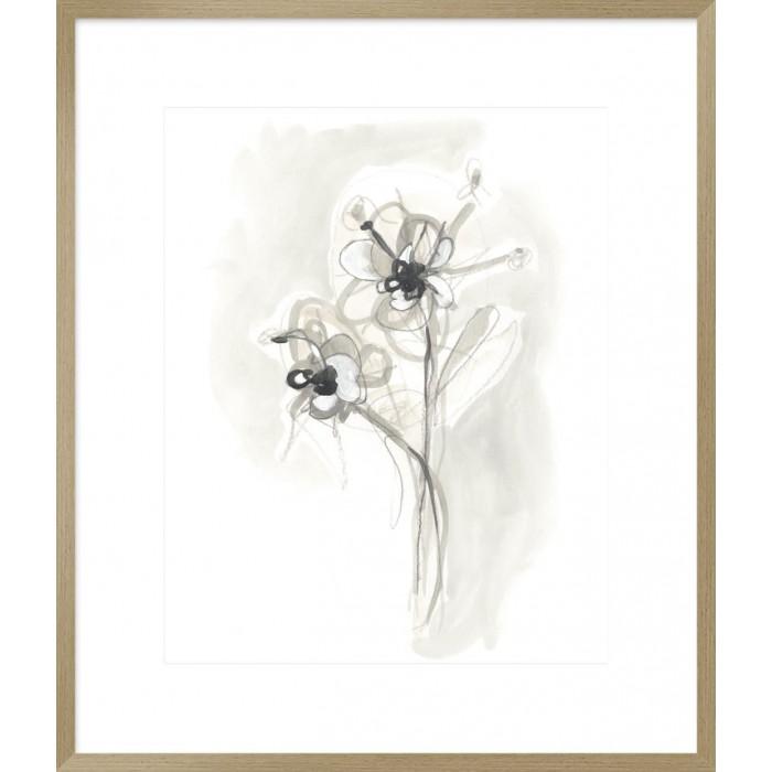 Neutral Floral Gesture VII 74x64cm