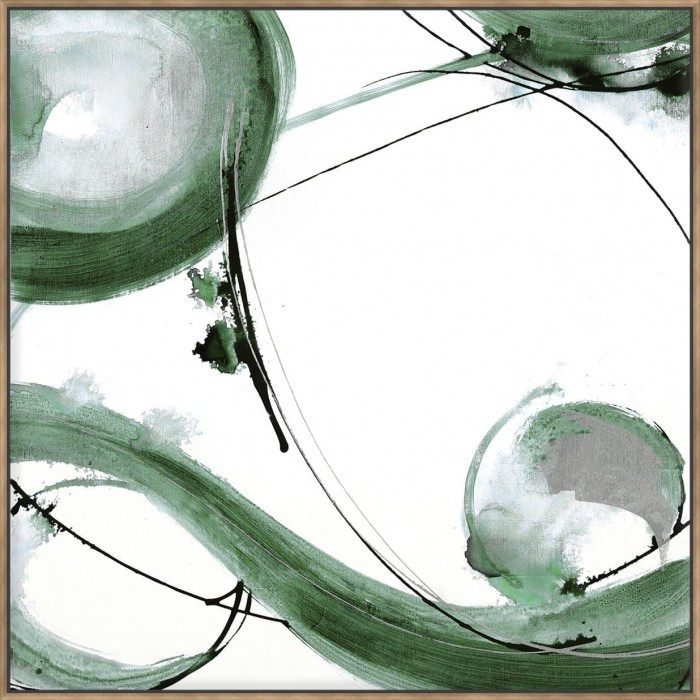 Green Caligraphy I - Canvas