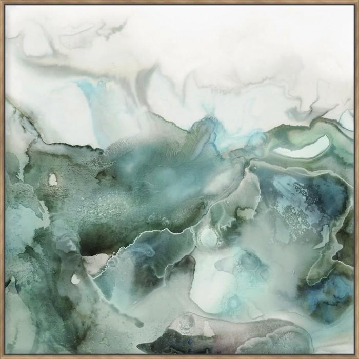 Mint Bubbles I - Canvas