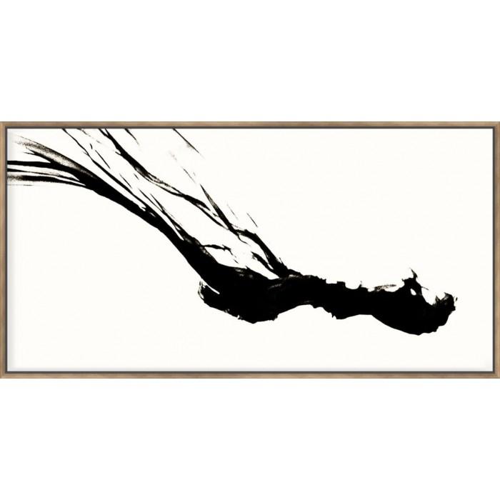 Silk Ink III On White - Canvas