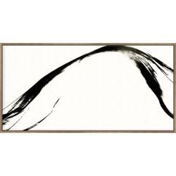 Silk Ink II On White - Canvas