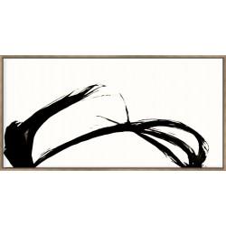 Silk Ink IV On White - Canvas
