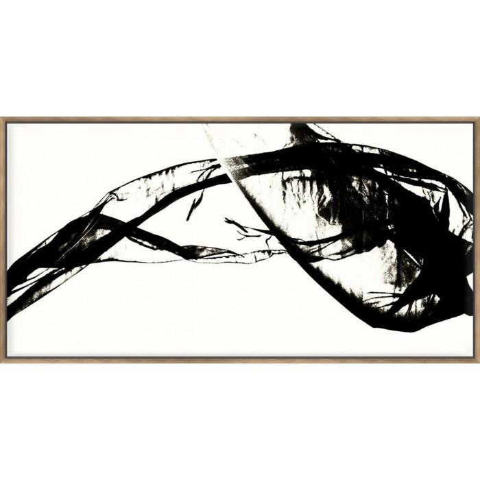 Silk Ink V On White - Canvas