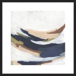 Sine Wave Clouds I 84x84cm / Black, Large, Smooth