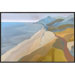 Point Mugu - Canvas 153x103cm / Black woodgrain