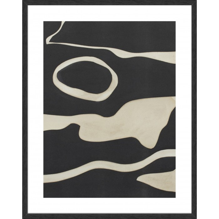Tides In Sepia II 124x99cm / Black Timber With Woodgrain