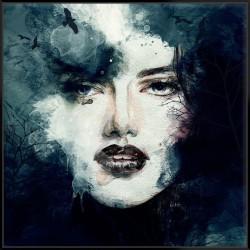 Watercolour Woman - Canvas
