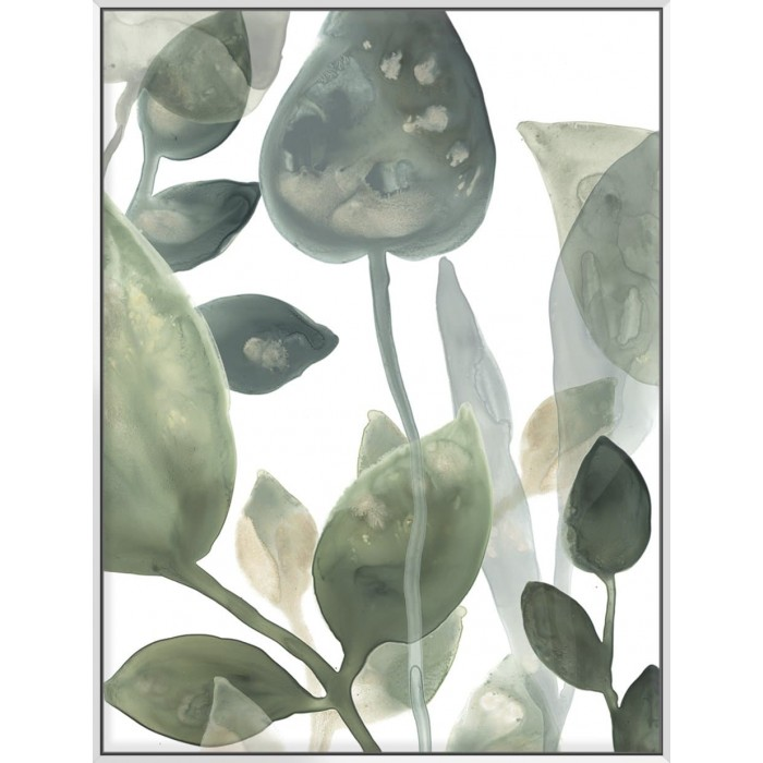 Water Leaves I - Canvas