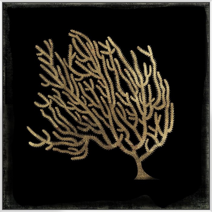 Gold Coral II - Canvas