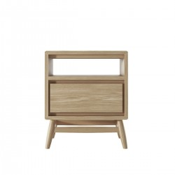 KARPENTER TWIST SIDE TABLE - EUROPEAN OAK-SLH Furniture