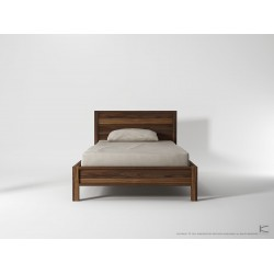 SOLID KING SINGLE BED FRAME - AMERICAN WALNUT