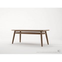 KARPENTER TWIST COFFEE TABLE 100CM - FSC RECYCLED TEAK-SLH Furniture