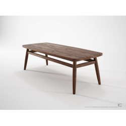 KARPENTER TWIST COFFEE TABLE 120CM - AMERICAN WALNUT-SLH Furniture