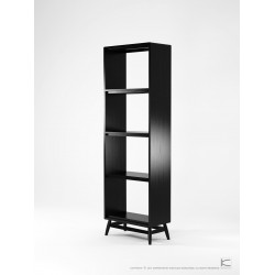 KARPENTER TWIST BOOKCASE - BLACK OAK-SLH Furniture