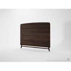 KARPENTER TWIST QUEEN SIZE HEADBOARD - AMERICAN WALNUT-SLH Furniture