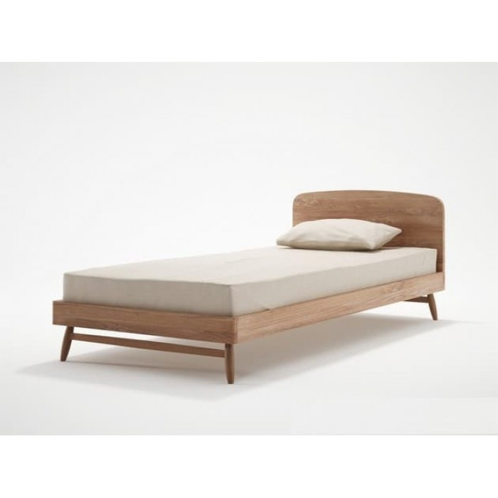 KARPENTER TWIST SINGLE BED FRAME - FSC RECYCLED TEAK