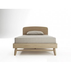 Twist King Single Bed Oak