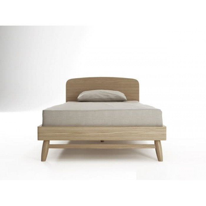 Furniture - Twist King Single Bed Oak