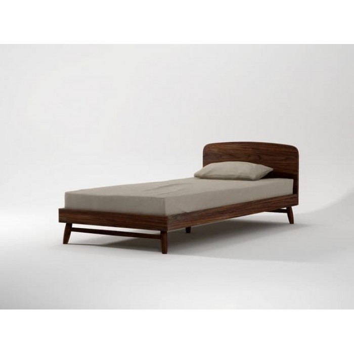 KARPENTER TWIST KING SINGLE BED FRAME - AMERICAN WALNUT