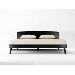 JAPANESE ZEN TWIST QUEEN BED FRAME - SATIN BLACK