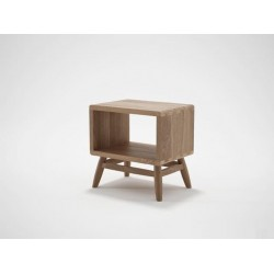 KARPENTER TWIST BEDSIDE - FSC RECYCLED TEAK-SLH Furniture