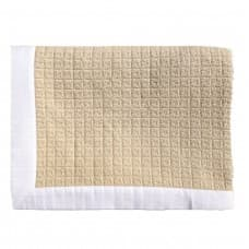 Cushions & Textiles - Erode Natural Throw with White Denim Border 142x183cm