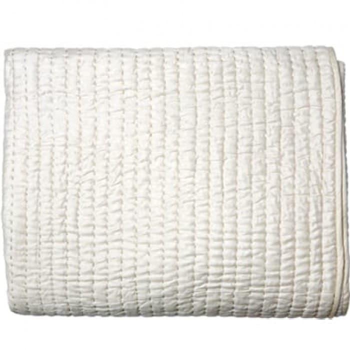 Cushions & Textiles - Gudri Cream Queen Quilt 244x274cm
