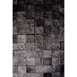 Belga Patch Cotton/Viscose Rug - Black-230x160cm