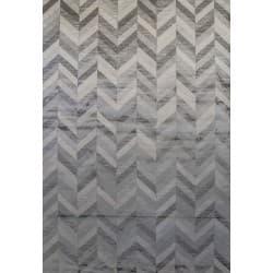 Heritage Viscose/Cotton Rug- Chevron Natural- 230X160cm