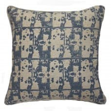 Cushions & Textiles - Ruin Linen Block Print Grey Lounge Cushion 55x55cm