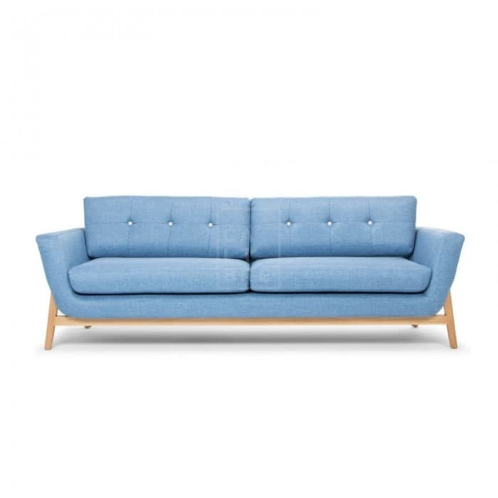 HELGRIM 3 SEATER SOFA - DENIM BLUE