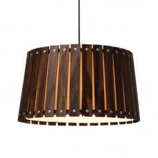 Furniture - Pendant Lamp with Wood Shade