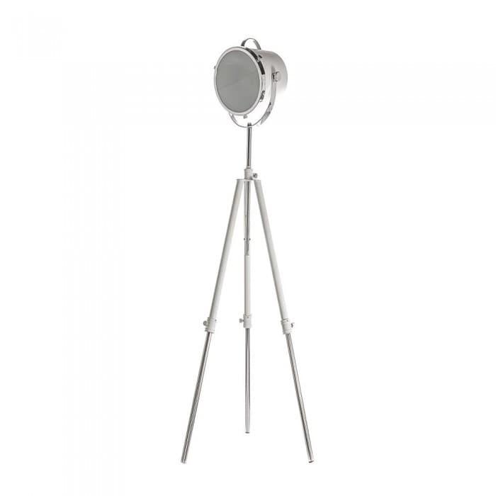 Lighting - Nautical Spotlight Tripod Floor Lamp - White