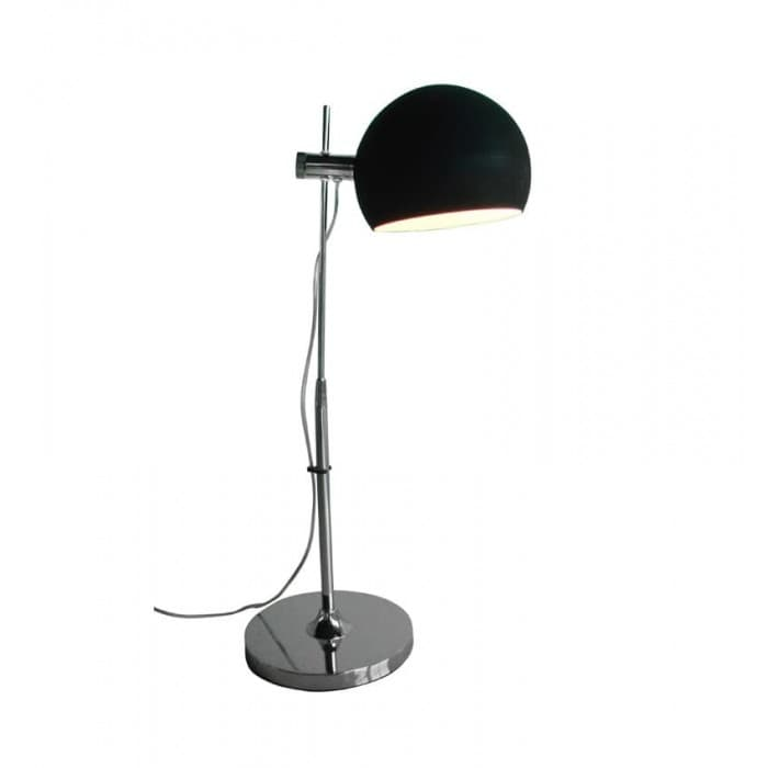 Lighting - Black Table Lamp with Glass Shade