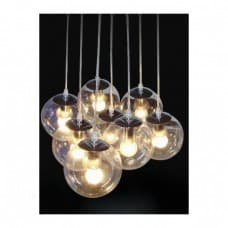 Pendant Lighting - Pendant Cluster - 8 Clear Shades