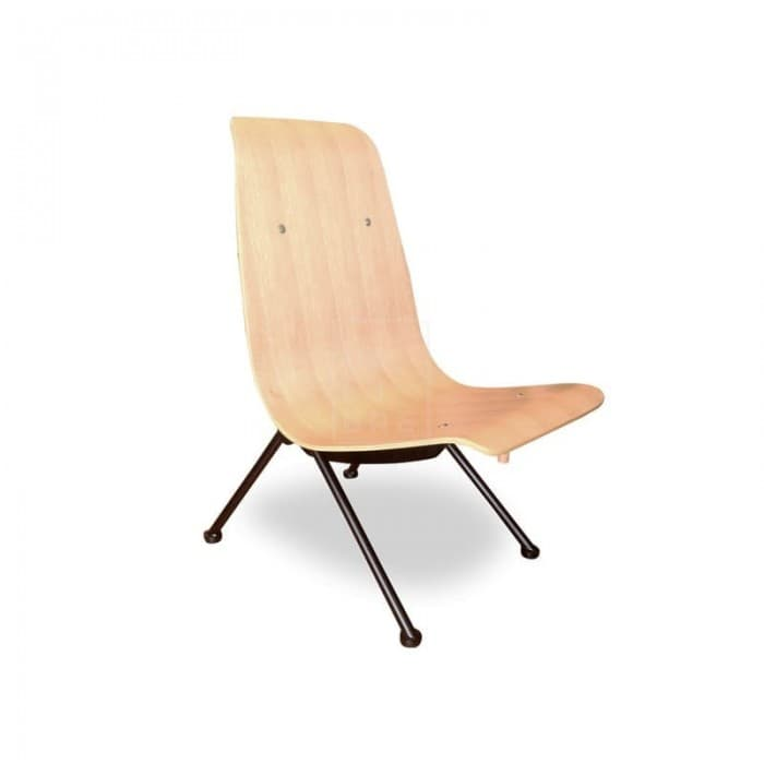 Furniture - Antony Lounge Chair - Jean Prouve Replica - Natural Veneer