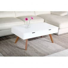 Furniture - White Coffee Table With Drawers
